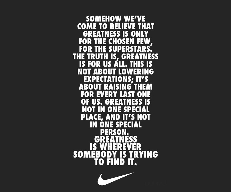 greatness quotes nike images